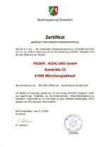 Zertifikat ChemKlimaschutzV